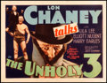 "Movie Posters:Crime, The Unholy Three (MGM, 1930). Title Lobby Card (11"" X 14"").. ..."