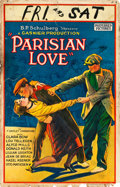 "Movie Posters:Drama, Parisian Love (Preferred Pictures, 1925). Window Card (14"" X 22"").. ..."