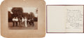 Photography:Cabinet Photos, John D. Rockefeller: Golfing Photo and Book.... (Total: 2 Items)