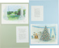 Political:Small Paper (1896-present), Lyndon B. Johnson: White House Christmas Cards.... (Total: 4 Items)