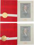 Political:Small Paper (1896-present), Richard Nixon: White House Christmas Cards.... (Total: 4 Items)
