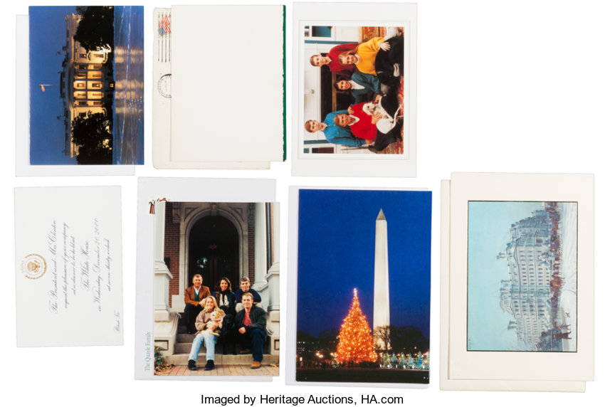 White House Christmas Cards.... (Total: 7 Items) Political Small ...