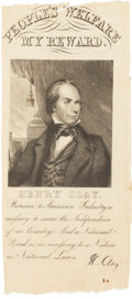 Political:Ribbons & Badges, Henry Clay: People's Welfare Ribbon....