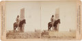 Photography:Stereo Cards, George Armstrong Custer: Custer Monument and Scout Curley....