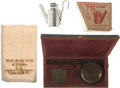 Western Expansion:Goldrush, Miner's Equipment, Circa 1890-1900.... (Total: 3 Items)