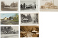 Western Expansion:Goldrush, Real Photo Postcard Prints: California Railroad Train Depot...(Total: 7 Items)