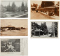 Western Expansion:Goldrush, Postcards Prints: Five California Railroad Train Depot Scenes....(Total: 5 Items)
