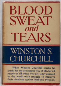 Winston S. Churchill. Blood, Sweat and Tears. G. P. Putnam's Sons, 1941. Book club e