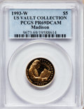 Modern Issues, 1993-W G$5 Bill of Rights Gold Five Dollar PR69 Deep Cameo PCGS.Ex: US Vault Collection. PCGS Population (3564/247). NGC C...