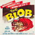 "Movie Posters:Science Fiction, The Blob (Paramount, 1958). Six Sheet (78.5"" X 81"").. ..."