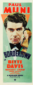 "Movie Posters:Crime, Bordertown (Warner Brothers, 1935). Insert (14"" X 36"").. ..."