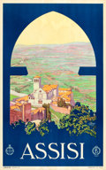 "Movie Posters:Miscellaneous, Assisi, Italy Travel Poster by Vittorio Grassi (ENIT, Late1920s-Early 1930s). Poster (25.25"" X 40.25"").. ..."