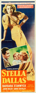 "Movie Posters:Drama, Stella Dallas (United Artists, 1937). Insert (14"" X 36"").. ..."