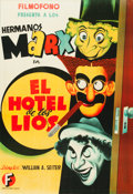 "Movie Posters:Comedy, Room Service (Filmofono, 1945). Spanish One Sheet (27"" X 39"").. ..."