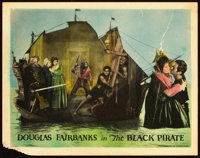 """The Black Pirate (United Artists, 1926). Lobby Card (11"""" X 14""""). From the Leonard and Alice Maltin Collection..."""