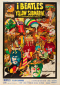 "Movie Posters:Animation, Yellow Submarine (United Artists, 1969). Italian 4 - Foglio (55"" X 78"").. ..."