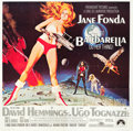 "Movie Posters:Science Fiction, Barbarella (Paramount, 1968). Six Sheet (81"" X 81"").. ..."