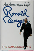 Books:Americana & American History, Ronald Reagan. SIGNED. An American Life. Simon and Schuster,1990. Fourth printing. Signed by Reagan on the titl...