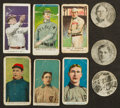 """Baseball Cards:Lots, 1910-Era Caramel/Candy """"E"""" Card Collection (9) With HoFers. ..."""