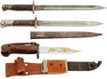 Edged Weapons:Bayonets, Three European Bayonets: AK-47, Czech VZ-24 and Mauser Bayonet.... (Total: 3 )