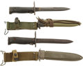 Edged Weapons:Bayonets, Pair of U.S. M5 Bayonets For the M1 Garand Rifle.... (Total: 2 Items)