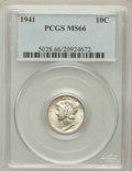 Mercury Dimes: , 1941 10C MS66 PCGS. PCGS Population (986/228). NGC Census:(984/562). Mintage: 175,106,560. Numismedia Wsl. Price for probl...