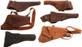 Arms Accessories:Holsters, Lot of Six U.S. Military Leather Holsters, Circa 1915-1950....(Total: 6 Items)