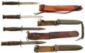Edged Weapons:Bayonets, Four U.S. M3 Trench Knives: Utica, Imperial and Case.... (Total: 4 Items)