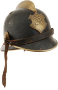 Militaria:Helmets, Antique German Fire Helmet....