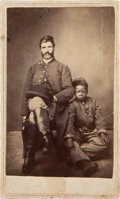 Photography:CDVs, Absolutely One Of The Most Moving Civil War Images We've Ever Cataloged - Carte-De-Visite Of A Federal Soldier With His Young ...