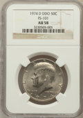 Kennedy Half Dollars, 1974-D 50C Doubled Die Obverse AU58 NGC. FS-101. PCGS Population(16/437). (#96723)...