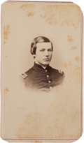 Photography:CDVs, Carte-De-Visite Bust Portrait Of Capt. George M. Dewey, 10th New York Inf. 'National Zouaves' With Excellent History....