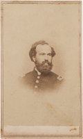 Photography:CDVs, Carte-De-Visite Bust Portrait Of Benjamin F. Fisher 32d Penna.Inf., U. S. Signal Corps And Commissioned Brigadier General...
