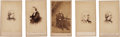 Photography:CDVs, Nice Group Of Five Brady/Gardner Cartes-De-Visites.... (Total: 5 Items)