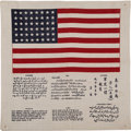 Military & Patriotic:WWII, WWII American Flag Blood Chit....