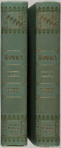 Books:Literature Pre-1900, George Eliot. Romola. Rand, McNally,[1898]. Two octavovolumes. Publisher's decorative cloth bindings. Illustra... (Total:2 Items)