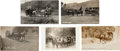 Western Expansion:Cowboy, Real Photo Postcard: Five California Stagecoach Scenes.... (Total: 5 Items)