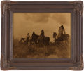 "Photography:Official Photos, Edward S. Curtis, Photographer: ""Before the Storm"" Vintage Goldtone in Original Frame...."