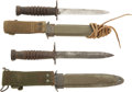 Edged Weapons:Bayonets, Pair of U.S. M4 Bayonets For the M1 Carbine.... (Total: 2 Items)