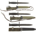 Edged Weapons:Bayonets, Lot of Two M7 Bayonets and One M4 Bayonet.... (Total: 3 Items)