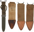 Militaria:Uniforms, Four Knife Scabbards,... (Total: 4 Items)