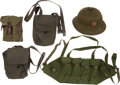 Militaria:Uniforms, Communist North Vietnamese Pith Helmet and Four Assorted AK-47 Magazine Pouches.... (Total: 5 Items)