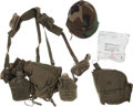 Militaria:Uniforms, Group of Post-WWII Field Gear and Helmet.... (Total: 5 Items)