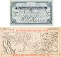 Western Expansion:Cowboy, Texas and California Stagecoach Pass and Route Map.... (Total: 2 Items)