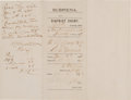 "Autographs:Celebrities, W.B. ""Bat"" Masterson: A Great 1880 Subpoena Signed by Him as Sheriff of Dodge City. ..."