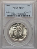Walking Liberty Half Dollars, 1944 50C MS67 PCGS....