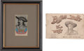 Western Expansion:Cowboy, Buffalo Bill Wild West: Two British Souvenirs.... (Total: 2 Items)