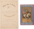 Western Expansion:Cowboy, Buffalo Bill Wild West: Two European Tour Souvenir Books....(Total: 2 Items)