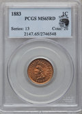 Indian Cents, 1883 1C MS65 Red PCGS....
