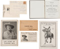 Western Expansion:Cowboy, Pawnee Bill: Group of Seven Souvenirs.... (Total: 7 Items)